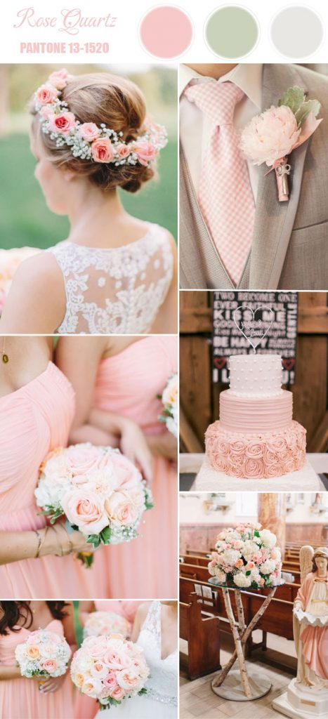spring-2016-rose-pink-wedding-color-combo-ideas-inspired-by-Pantone